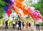 Цветной дым для свадьбы в Краснодаре
